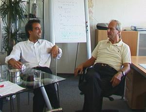 Andreas Friede und Dr. Krull von Mainpean